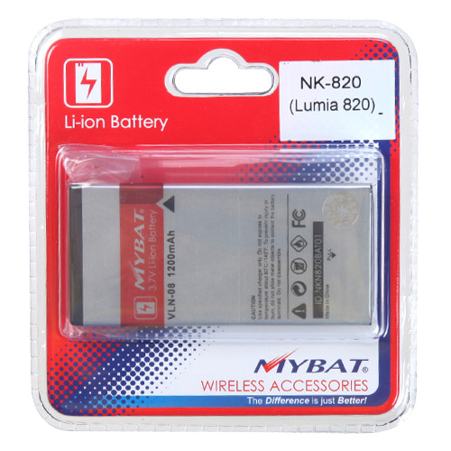 Standard Replacement Battery for Nokia Lumia 820 - Li-1200 mAh