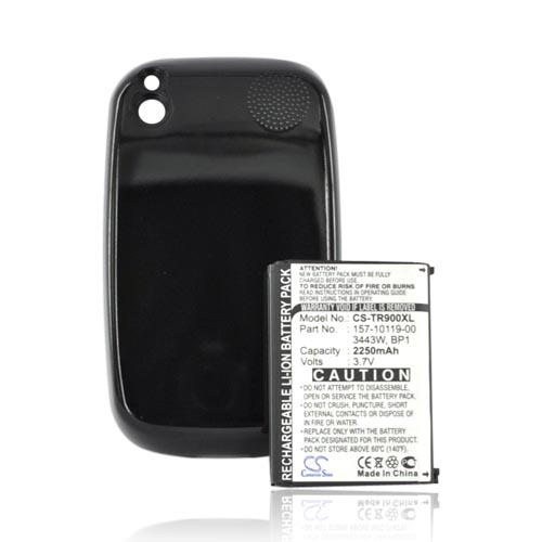Palm Pre & Palm Pre PLUS Extended Li-on Battery w/ Battery Door - Glossy Black - 2000mAh (3.7v )