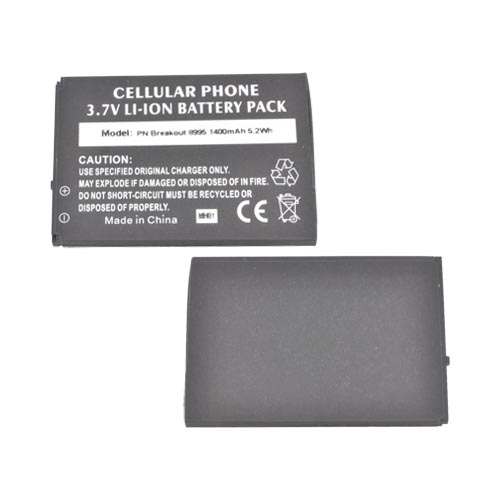 Pantech Breakout Standard Replacement Battery (1400 mAh) - Black