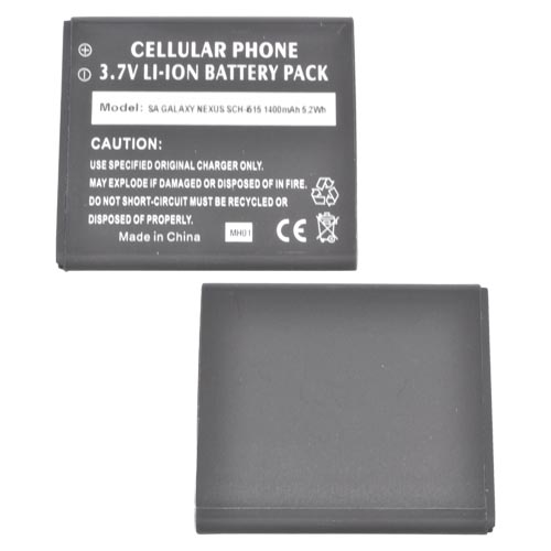 Samsung Galaxy Nexus (CDMA) Standard Replacement Battery (1400 mAh) - Black