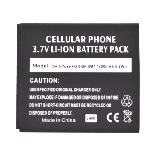Samsung Infuse i997 Standard Battery Replacement (1400 mAh) - Black