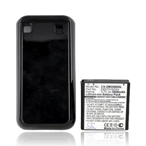 Samsung Vibrant T959 Extended Battery w/ Door (3000 mAh) - Black