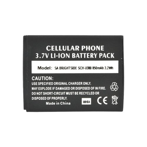 Samsung Brightside Standard Replacement Battery (850 mAh) - Black