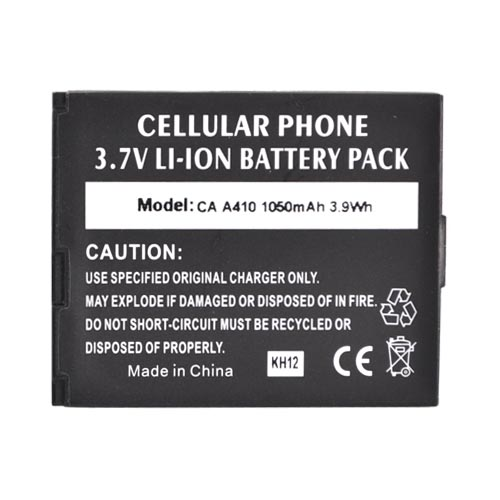 ZTE TXTM8 3G A410 Standard Battery Replacement (1050mAh)