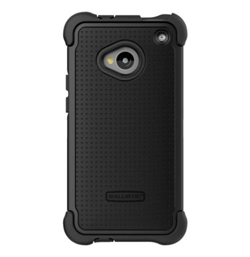 Ballistic Black Shell Gel Series Hard Back Cover Over Silicone Skin Case for HTC One - BA-007378