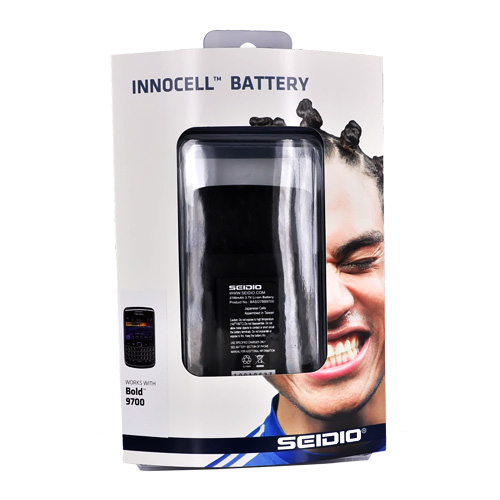 Original Seidio Blackberry Bold 9780 9700 Innocell Extended Battery with Door - Black (2700mAh)