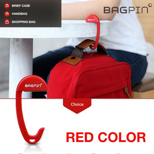 Bagpin Hanger [Red] Super Strong Hanger/Hook For Purses, Bags, And Backpacks (Holds Up To 33lbs!) Attaches To Your Purse Or Bag For Convenience