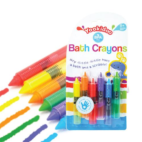 Universal Washable Bath Crayons, Colorful Baby Bathtub Toys [6 Pack]