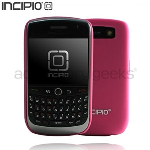 Original Incipio Feather Blackberry Curve 8900 Hard Case w/ Screen Protector - Hot Pink