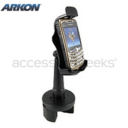 Original Arkon Blackberry Bold 9650 & Tour 9630, Curve 8700, Curve 8900 Cup Holder Mount, BB223 - Black