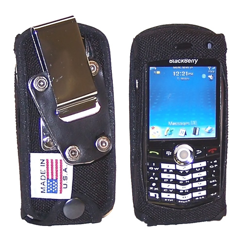 Original TurtleBack Premium Blackberry Pearl 8100/8120/8130 Heavy Duty Nylon Case w/ Steel D-Ring Belt Clip - Black