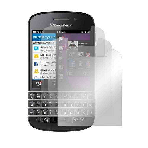 Screen Protector Medley w/ Regular, Anti-Glare, & Mirror Screen Protectors for Blackberry Q10