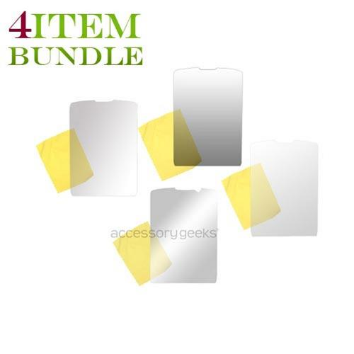 Blackberry Torch Bundle Package - Mirror, Premium, Privacy, & Anti-Glare Screen Protectors - (Essential Combo)