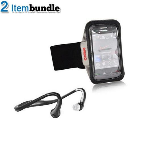 Blackberry Torch Bundle Package - Motorola S9-HD Stereo Bluetooth Headset & Armband Case - (Athlete Combo)