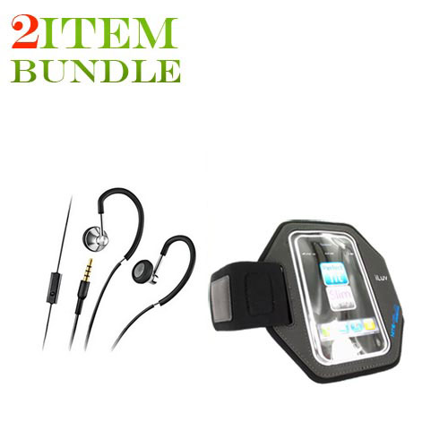 Blackberry Torch Combo Package w/ Motorola MOTOROKR Active Stereo Headset and Armband Case