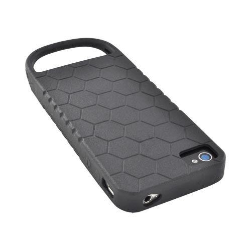 Original Strike Industries AT&T/ Verizon Apple iPhone 4, iPhone 4S Flexible Battle Case w/ Honeycomb Texture & Quick-Pull Ring, BCAIP4GHN02 - Black