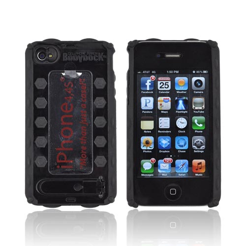 Bodydock Bronze Edition Apple Iphone 4 / 4s Hard Case W/ Screen Protective Appliqué - Black