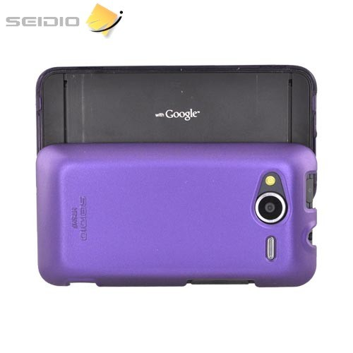 Original Seidio HTC EVO Shift 4G Surface Combo Hard Case w/ Holster, BD2-HR2HTSHF-PR - Amethyst Purple/ Black