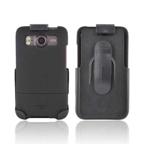 Original Seidio HTC Inspire 4G Innocase Surface Combo Rubberized Hard Case w/ Holster, BD2-HR3HTACE-BK - Black