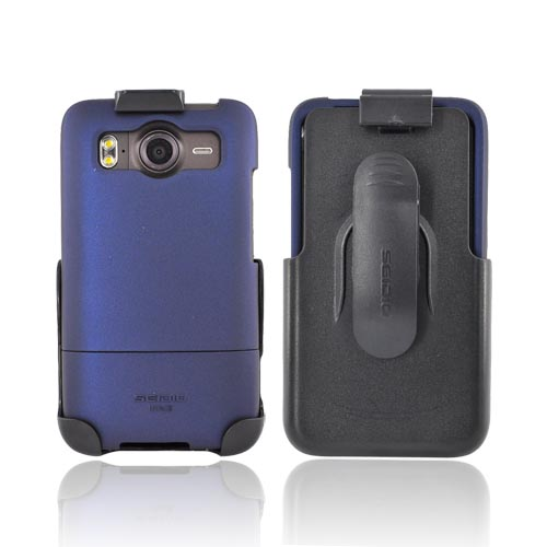 Original Seidio HTC Inspire 4G Innocase Surface Combo Rubberized Hard Case w/ Holster, BD2-HR3HTACE-BL - Blue/ Black