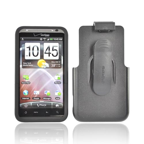 Original Seidio Innocase II HTC Thunderbolt Hard Surface Case w/ Holster Combo, BD2-HR3HTMEC-BK - Black