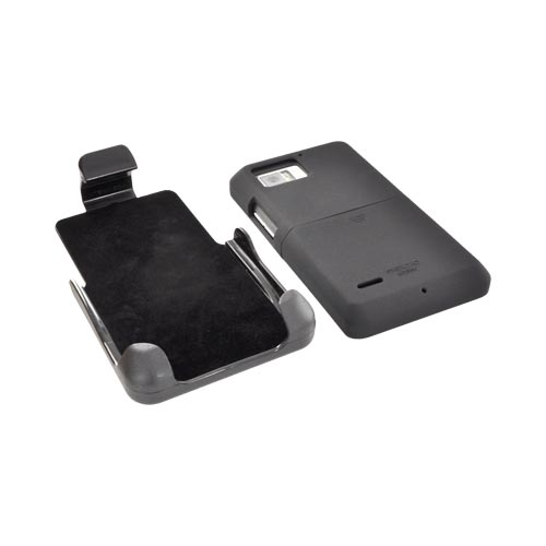 Original Seidio Motorola Droid Bionic XT875 Surface Combo Rubberized Hard Case w/ Holster, BD2-HR3MTBNC-BK - Black