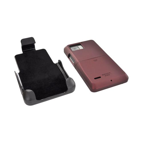 Original Seidio Motorola Droid Bionic XT875 Surface Combo Rubberized Hard Case w/ Holster, BD2-HR3MTBNC-RD - Red