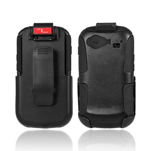Original Seidio Google Nexus S Convert Combo Hard Case on Silicone & Holster w/ Swivel Clip & Screen Protector, BD4-HKR4SSN2 - Black