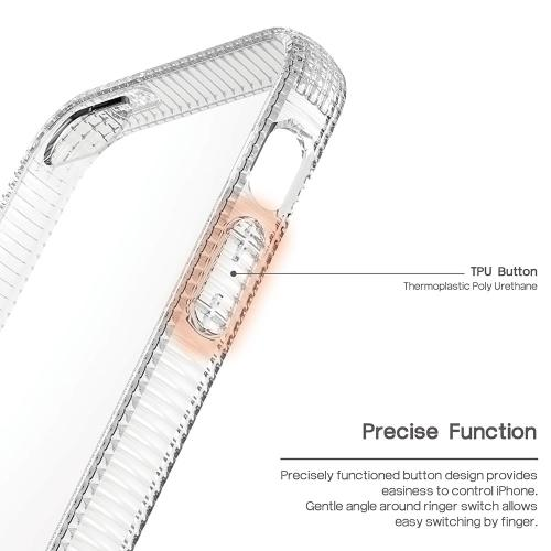 [Apple iPhone SE/5/5S] Case, BEFROG [Clear] Crystal Hard Back Slim Flexible Grip Clear Back Panel + TPU Bumper Cover Case