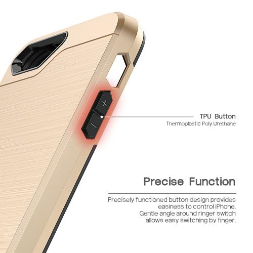 [Apple iPhone SE/5/5S] Case, BEFROG [Gold] Dual Layer Drop Protective Case [Armor Case] PC + TPU Bumper Case