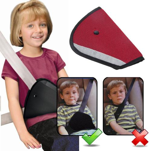 Universal Red Triangle Child Car Safety Belt Adjuster Pad