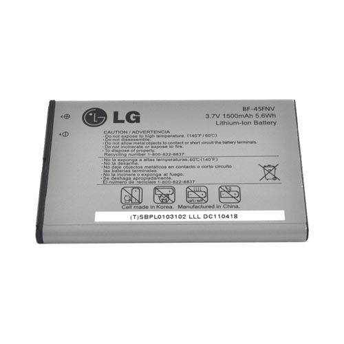 Original LG Revolution, LG Esteem Standard Replacement Battery (1500 mAh), BF-45FNV - Gray