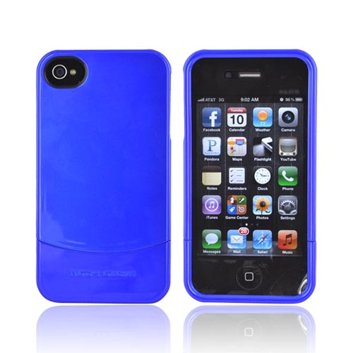 Original Body Glove Vibe AT&T/ Verizon Apple iPhone 4, iPhone 4S Slim Vibe Hard Slider Case - Blue