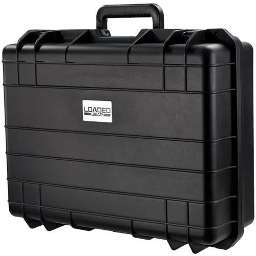 Barska Hard Case, Loaded Gear HD-400 Watertight Tough Protection Storage Case w/ Shoulder Strap [Black]