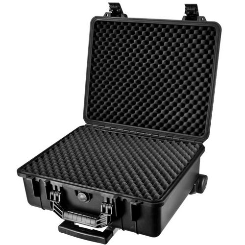 Barska Hard Case, Loaded Gear HD-600 Watertight Tough Protection Storage Case w/ Shoulder Strap [Black]