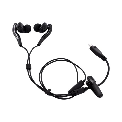 Original Samsung HM3700 Universal Convertible Bluetooth Headset w, Earbuds, BHM3700NDACSTA - Charcoal Gray, Black