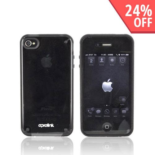 Original Hornettek Aprolink AT&T Apple iPhone 4 Fusion Dual Shell Hard Case, BIPH-406-01 - Black/ Transparent Smoke