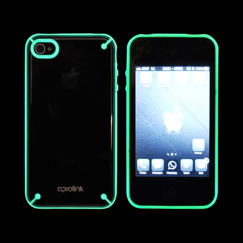 Original Hornettek Aprolink AT&T Apple iPhone 4 Fusion Dual Shell Hard Case, BIPH-416-02 - Glow in the Dark/ Transparent Smoke/ Gray