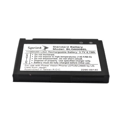 Original Sprint LG LX600 Lotus Standard Battery Replacement, BLG60092L - Black