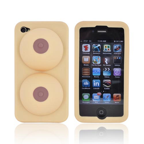 Original Big Mouth Toys iBoobies Apple iPhone 4/4S Silicone Case & Stand - BM1433
