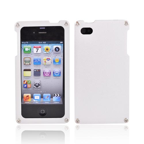 Original BNA Nature AT&T/Verizon Apple iPhone 4, iPhone 4S Aluminum Hard Case & Screen Protector, Exclusively from AccessoryGeeks! BNA-006 - Silver