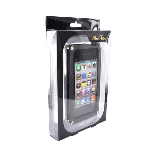 Original BNA Nature AT&T/Verizon Apple iPhone 4, iPhone 4S Aluminum Hard Case & Screen Protector,Exclusively from AccessoryGeeks! BNA-008 - Black