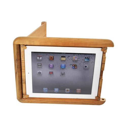 Exclusive BNA Nature Apple iPad 2 100% Hard Wood Case & Stand - Teak Wood