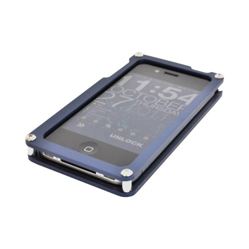 iPhone 4/4s Solid Metal (Aluminum) Case by BNA Featuring Wood Back & Screen Protector