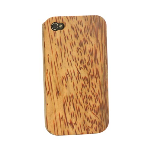 Exclusive iPhone 4/4s Wood Case by TPhone [Coconut Wood] Hand-finished Wood Back Cover Case W/ Screen Protector