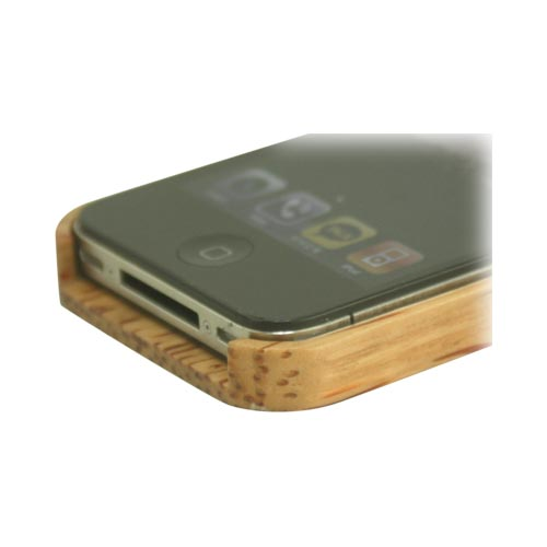 """Exclusive"" TPhone Eco-Design AT&T/ Verizon Apple iPhone 4, iPhone 4S Hand-Finished Wood Hard Back Cover Case w/ Screen Protector - Coconut Wood - **FREE ENGRAVING**"