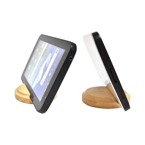 Exclusive BNA Nature Tablet/ iPhone/ Android 100% Hard Wood Stand - Sungkai