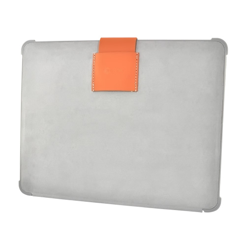 Original Macally Apple iPad (1st Gen) Micro Fiber Suede Case w/ Stand - Gray/Brown (Expected Back in Stock 06/08/10)