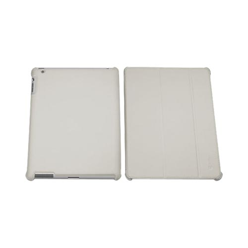 Original Macally Apple iPad 2nd Gen Leather Case Stand, BOOKSTAND2G - Beige