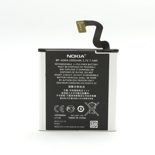OEM Nokia Internal Replacement Battery for Nokia Lumia 920 (2000 mAh) -BP-4GW